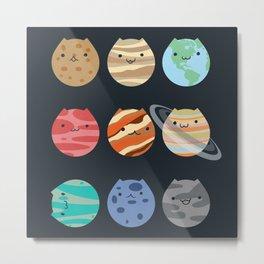 Solar System Cats Metal Print