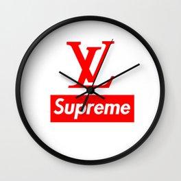 LV Supreme Wall Clock