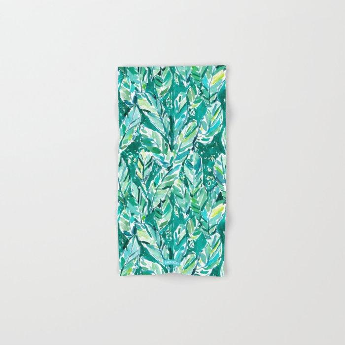 BANANA LEAF JUNGLE Green Tropical Hand & Bath Towel