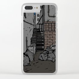 Back street Clear iPhone Case