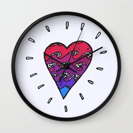 my heart's an autoclave Wall Clock