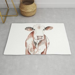 Cow Watercolor Rug