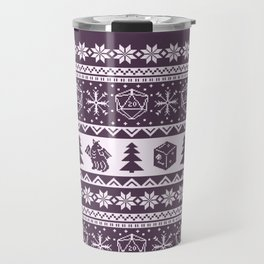 "Roll for Initiative Fair Isle in ""Sugarplum"" Travel Mug"