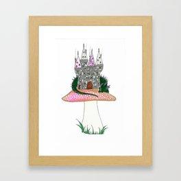 Tiny Kingdom with Green Sleeping Dragon Framed Art Print