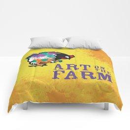 Hen Peck Yellow Comforters