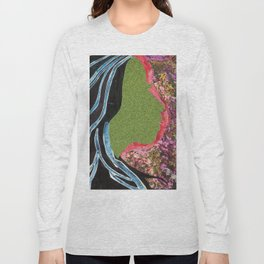 Black Hair Lady Long Sleeve T-shirt