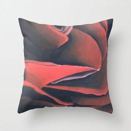 Rose Close Up Throw Pillow