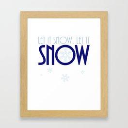 Let It Snow Snowflake Framed Art Print