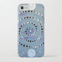 calendar iPhone & iPod Cases featuring MOON CALENDAR by SpiritYSol