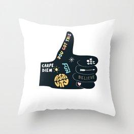 Inspirational Thumbs Up Throw Pillow