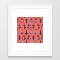 anchors Framed Art Prints featuring Anchors by Maria Tanygina