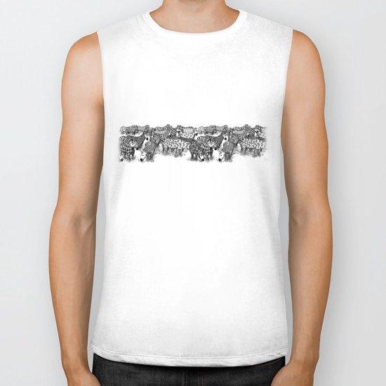 Zebra Print Biker Tank