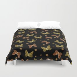 Insects Motif Pattern Duvet Cover