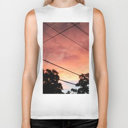 483 - Sunset and Wires Biker Tank