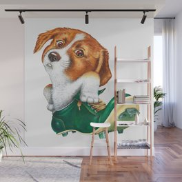 A little dog in a spike Wall Mural