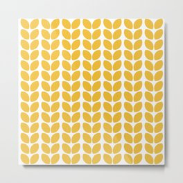 leaves - yellow Metal Print