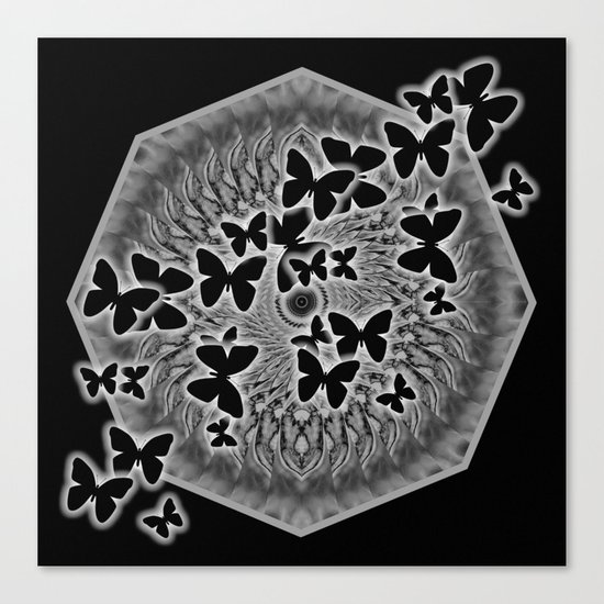 Dark butterfly kaleidoscope Canvas Print