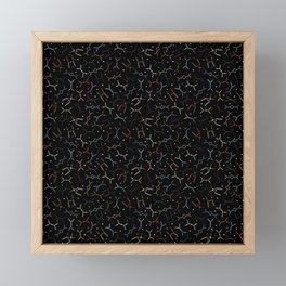 Feynman diagrams and Particles on Black Framed Mini Art Print