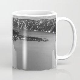 Mountain Lake View B&W Coffee Mug