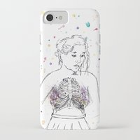 lungs iPhone & iPod Cases featuring Lungs by Sarah Hartnell