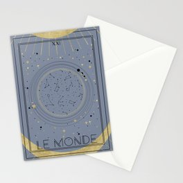 The World or Le Monde Tarot Stationery Cards