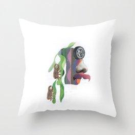 Trepa por mi pelo Throw Pillow
