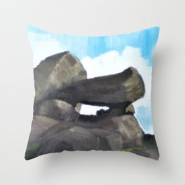 Study of Rocks Throw Pillow