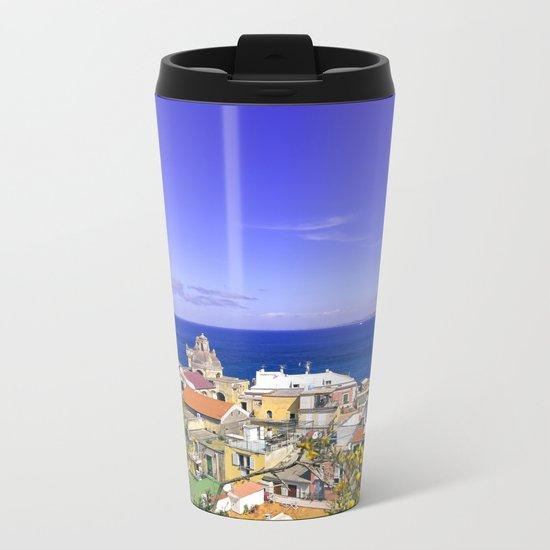 The Magic Of The Mediterranean Sea Metal Travel Mug