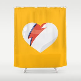 David's Heart Shower Curtain