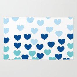 Heart Drops-blue Rug