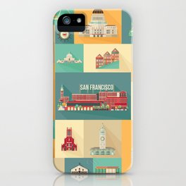 San Francisco Landmarks iPhone Case