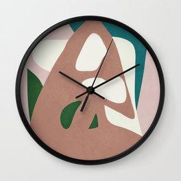 Abstract Minimal Shapes Wall Clock