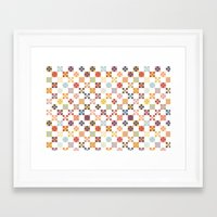 quilt Framed Art Prints featuring Quilt by Anh-Valérie