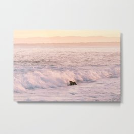 Waves at Sunrise in Monterey Bay Photography Print Metal Print