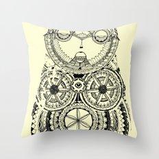 A wise old owl sat on an oak Throw Pillow