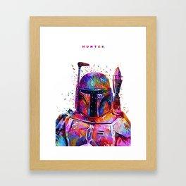 Hunter White Framed Art Print