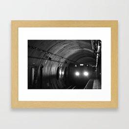 L-Train   Chicago Loop (b/w) Framed Art Print