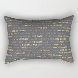 Yellow Web Design Keywords Poster Rectangular Pillow