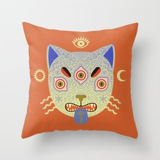 Mystic Cat Throw Pillow