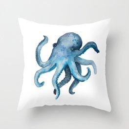 Blink the Octopus Throw Pillow