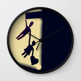 I will catch you when you fall Wall Clock