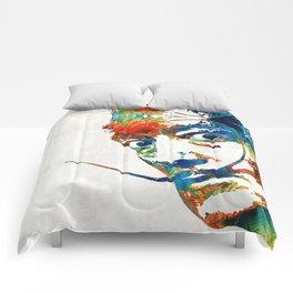 Colorful Dali Art by Sharon Cummings Comforters