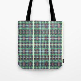 plaidish Tote Bag
