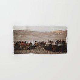 Camels in the Negev desert, Israel Hand & Bath Towel