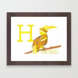H is for Hornbill Framed Art Print
