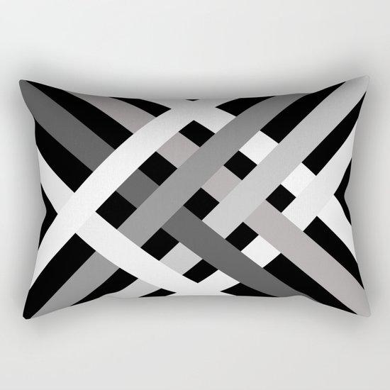 BNW Criss Cross Rectangular Pillow