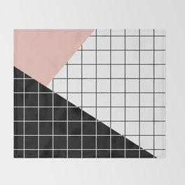 Minimal Geometry Throw Blanket