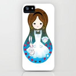 Alice in Wonderland matrioska iPhone Case