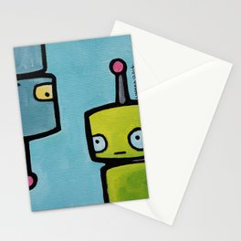 Robot - Recognizing You Through Time Stationery Cards