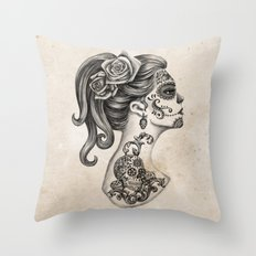 Day of the Dead Girl Throw Pillow